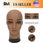 GEX Female Makeup Head Wig Making Mannequin Head Brown Color Wigs Hats Display