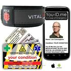 Medical Alert Bracelet ID Wallet Card In Case of Emergency Service Paramedic ICE