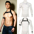 Men Chest Harness Lingerie Shoulder Support Brace Night Club Wrist Arm Band K198