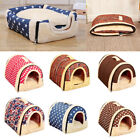 Portable Pet Dog Cat Bed House Warm Soft Mat Puppy Bedding Igloo Basket Gift New