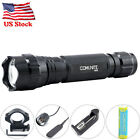 COMUNITE 2000LM Tactical LED Flashlight 20mm Mount Hunting Light + 18650 Battery