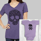 Mommy and Me Outfits Skull baby girl clothes mommy and baby