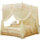Embroidered Mosquito net with frame Bed decoration canopy Help sleep Queen king image