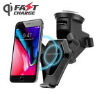 Fast QI Wireless Car Mount Charger Air Vent Phone Dock Holder Charging Stand GPS