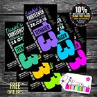 PERSONALISED TEENAGER 13TH BIRTHDAY PARTY INVITATIONS X 5