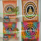 Buddha Happiness Symbol Bohemian Tapestry Indian Wall Hanging Home Decor Cotton