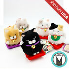 Amuse Hige Manjyu Maneki Neko Lucky Cat Plush Doll Ball Chain Cute Japan Kawaii