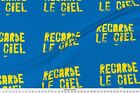 Blue Sky Message Writing Fabric Printed by Spoonflower BTY