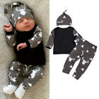 Cute Newborn Baby Boys Girls Tops Romper Jumpsuit Long Pants Outfits Clothes UK