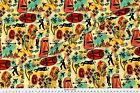 International Exotic James Bond Red Yellow Fabric Printed by Spoonflower BTY $23.53 CAD on eBay
