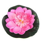 5X10cm Artificial Aquarium Water Lily Floating Flower Pond Tank Plant Ornament X