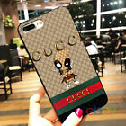 New!Deadpool!iPhone X 8 Plus 7 Plus 6s 5s Hot!Gucci78X95SE!Samsung S9 Plus Cases