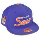 NBA Mitchell Ness G023 Phoenix Suns Fitted Flat Bill Script Hat Cap on eBay
