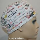 CHEF Recipe on White Cap Foodservice Deli Restaurant Cook Hat**CLEARANCE