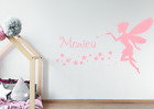 Personalised Name & Fairy Wall Sticker For Girls Bedroom Magical Wall Art AG07