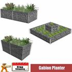 Gabion Planter Steel/2 Tiered Landscaping Wall Rock Pot Cage Basket Wire Cage UK
