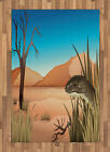 Reptile Area Rug Decorative Flat Woven Accent Rug Home Decor 2 Sizes