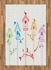 Flying Birds Area Rug Decorative Flat Woven Accent Rug Home Decor 2 Sizes