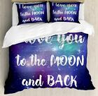 Love Phrase Duvet Cover Set Twin Queen King Sizes with Pillow Shams Ambesonne