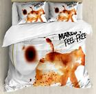 Coffee Art Duvet Cover Set Twin Queen King Sizes with Pillow Shams Ambesonne
