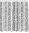 Grey and White Pattern Shower Curtain Fabric Decor Set with Hooks 4 Sizes