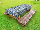 Vintage Abstract Outdoor Picnic Tablecloth in 3 Sizes Washable Waterproof
