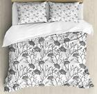 Grey Color Duvet Cover Set Twin Queen King Sizes with Pillow