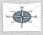 Grunge Compass Tapestry Wall Hanging Form Bedroom Dorm Room Decor 2 Sizes