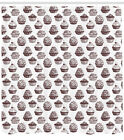 Cupcake Pattern Shower Curtain Fabric Decor Set with Hooks 4 Sizes