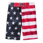 NWT Gymboree Americana Flag Patriotic Boys Board Shorts Swim Trunks Swimsuit