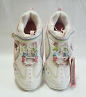 Girls White Leather Blinking Sneaker Shoes: 2-3-4