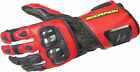 SCORPION SG3 MK II Gloves Leather Gauntlet RED BLACK