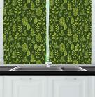 "Sage Kitchen Curtains 2 Panel Set Window Drapes 55"" X 39"" by Ambesonne"