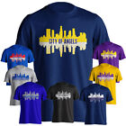 Los Angeles LA City of Angels Sports Skyline Graphic Adult Short Sleeve T-Shirt on Ebay