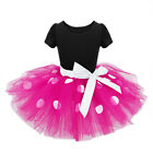 Kids Girls Baby Toddler Minnie Mouse Party Costume Tutu Dress Skirt + Headband