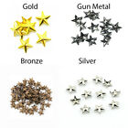 5mm & 7mm Star Studs Nail Heads Punks Press Buttons for Leather Crafts & Arts