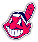 Cleveland Indians MLB Baseball Head Logo Car Bumper Sticker - 9'', 12'' or 14'' on Ebay