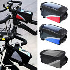 Portable Bicycle Cycling Bike Frame Front Tube Pannier Bag Phone Holder Pouch