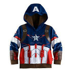 Kids Toddler Boys Superhero Hoodie Coat Sweatshirt T-Shirt 2Pcs Outfits Clothes