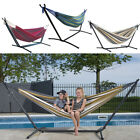 Portable Folding Hammock Steel Stand Camping Outdoor Travel Beach Swing Bed