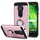 For Motorola Moto G6 Play Phone Case Shockproof Hybrid TPU Ring Stand Hard Cover