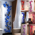 Uk_ Home Living Room Decor 3d Flower Removable Diy Wall Sticker Decal Mural Rapt