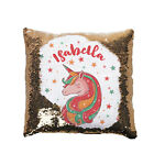 Personalised Gold Sequin Reveal Cushion/ Cover Unicorn, Gift for Girls