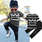 toddlers tracksuits - Toddler Kids Baby Boys T-shirt Tops Pants Trousers Tracksuit Clothes Set Outfits