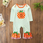 US Newborn Baby Girl Pumpkin Clothes Jumpsuit Romper Bodysuit Halloween Outfits