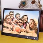 "15"" HD LED Digital Photo Frame with Multimedia Playback Touch Button Calendar US"