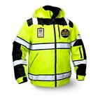 KwikSafety ENFORCER ANSI Reflective Class 3 Solid Tape Bomber Safety Jacket