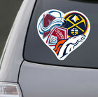 Love Denver Colorado Sports Car Sticker Decal Avalanche Rapids Broncos Nuggets on eBay