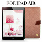 BLACK / COFFEE Cover Protector Leather Smart Case Table Stand For iPad 5 / Air