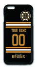 NHL Boston Bruins Personalized Name & Number Apple iPhone Back Case 162509 $16.99 USD on eBay